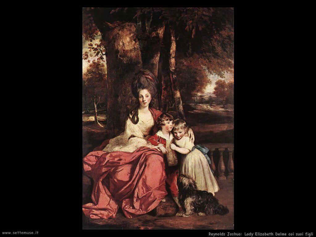 reynolds joshua_Lady Elizabeth Delme coi figli