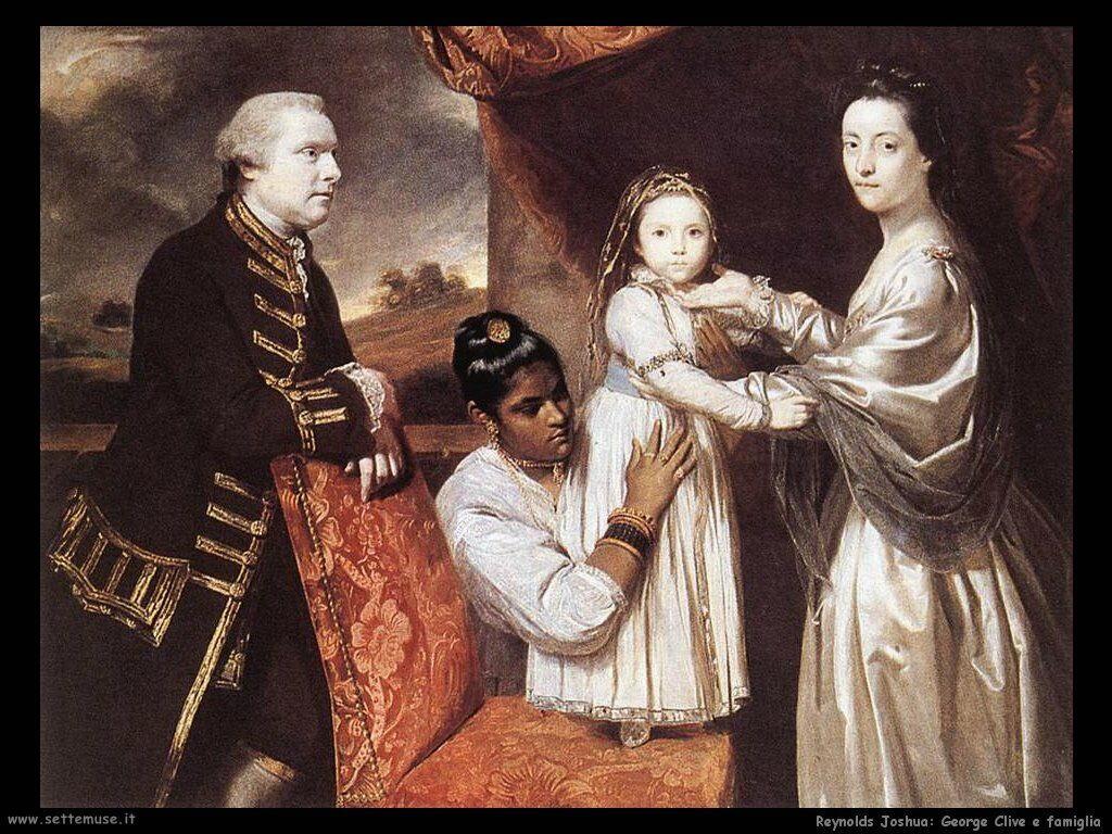 reynolds joshua_George Clive con la famiglia