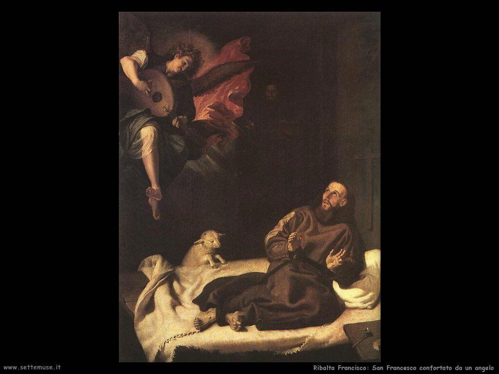 ribalta_francisco_San Francesco confortato da un angelo