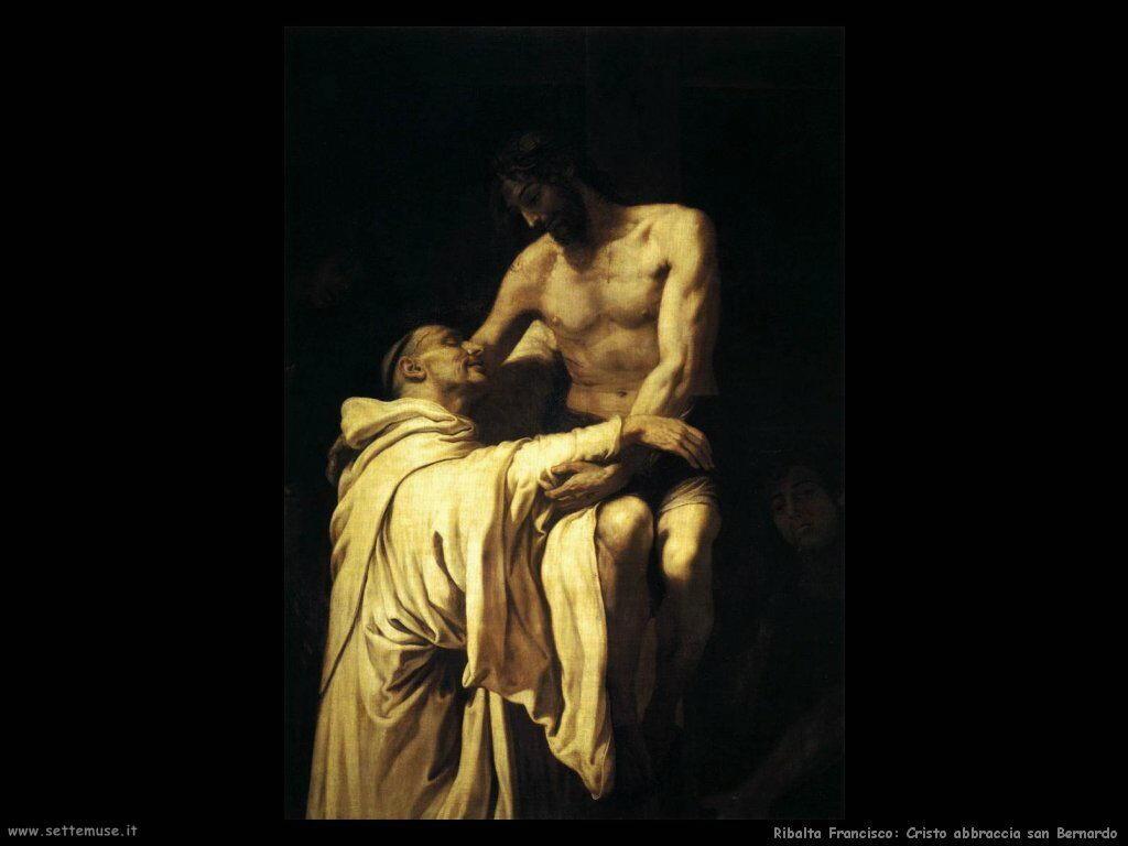 ribalta_francisco_Cristo abbraccia san Bernardo