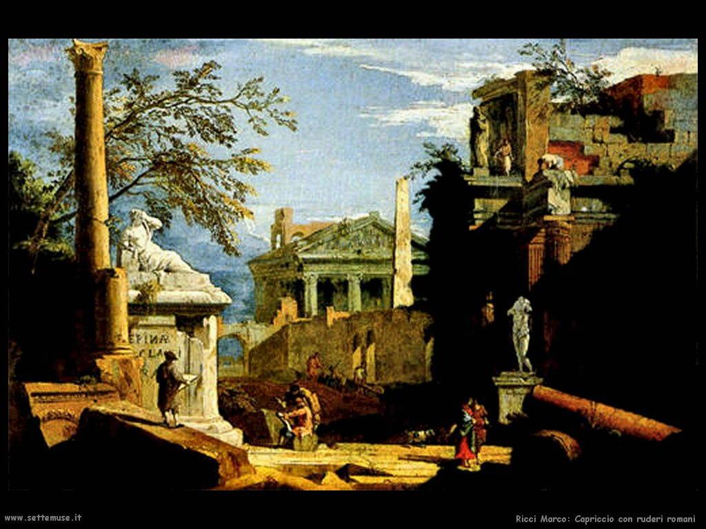 ricci marco Capriccio con ruderi romani