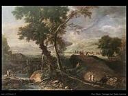 ricci_marco_Paesaggio con fiume e persone