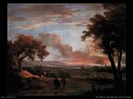 ricci_marco_Paesaggio del sud al tramonto
