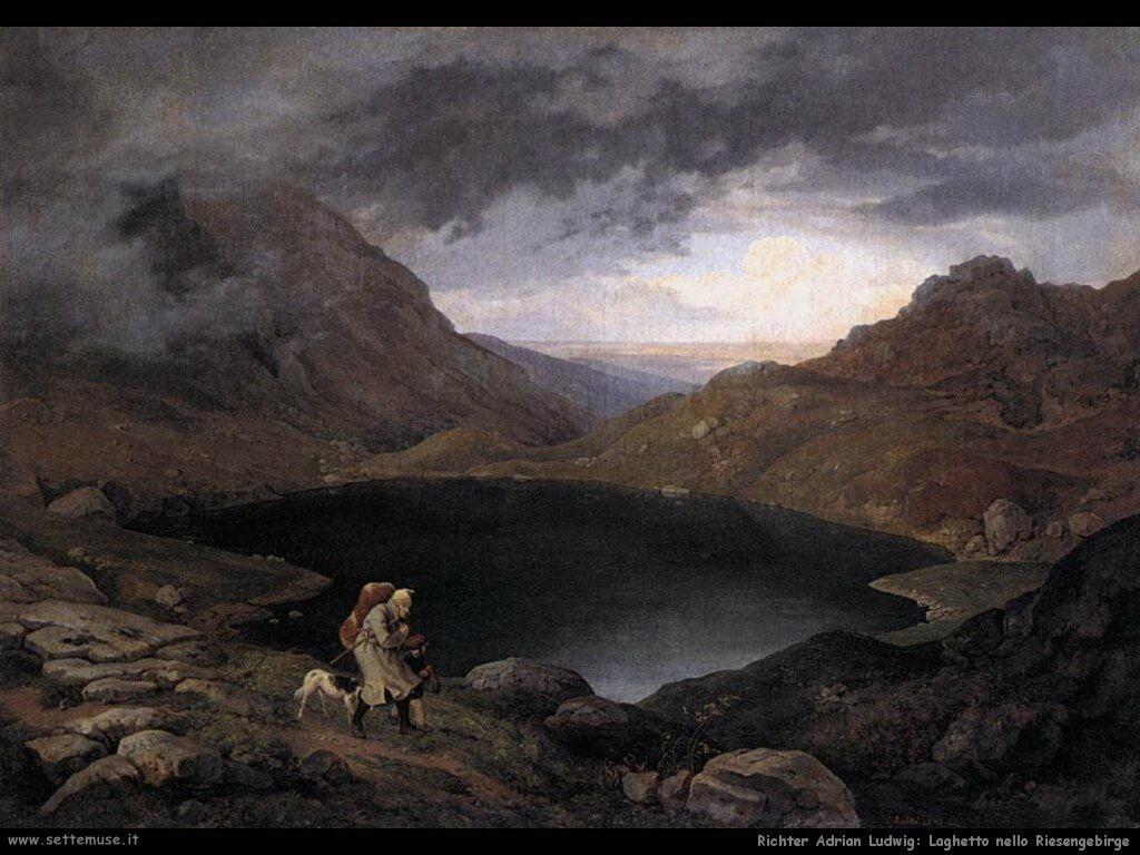 richter adrian ludwig Pozza d acqua sullo Riesengebirge