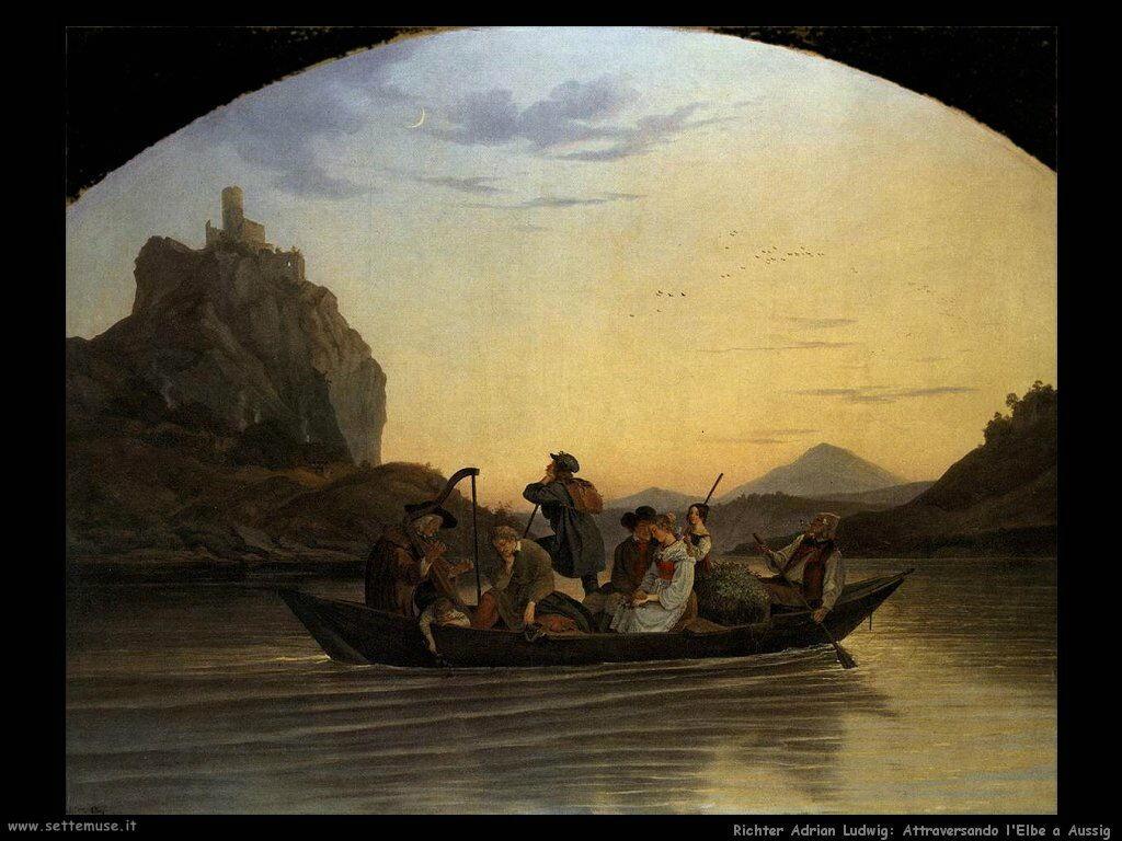richter adrian ludwig Attraversamento dell'Elba a Aussig