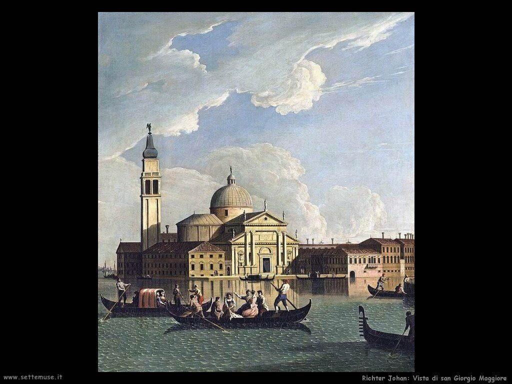 richter johan Vista di san Giorgio Maggiore Venezia