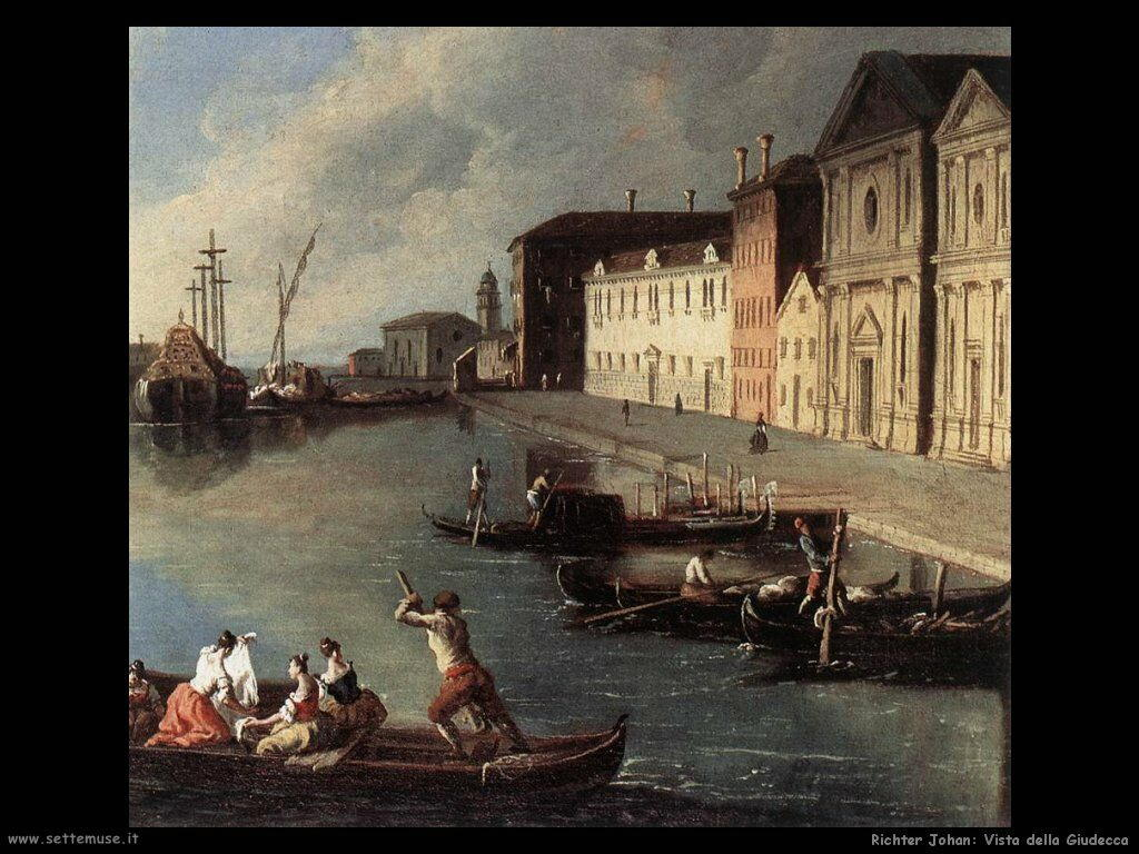 richter johan Vista del canale della Giudecca
