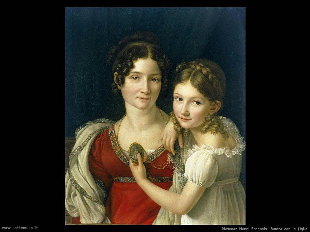 riesener_henri_francois Madre con la figlia