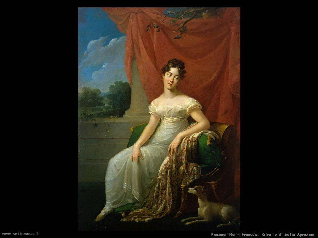 riesener henri francois Ritratto di Sofia Apraxina