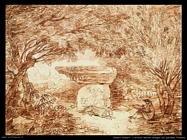 robert _hubert L'artista che disegna in Farnese