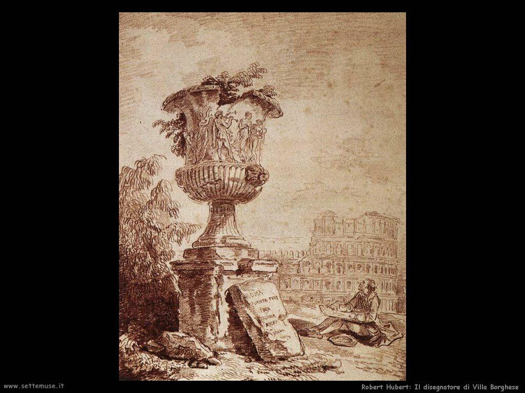 robert hubert Il disegnatore di Villa Borghese