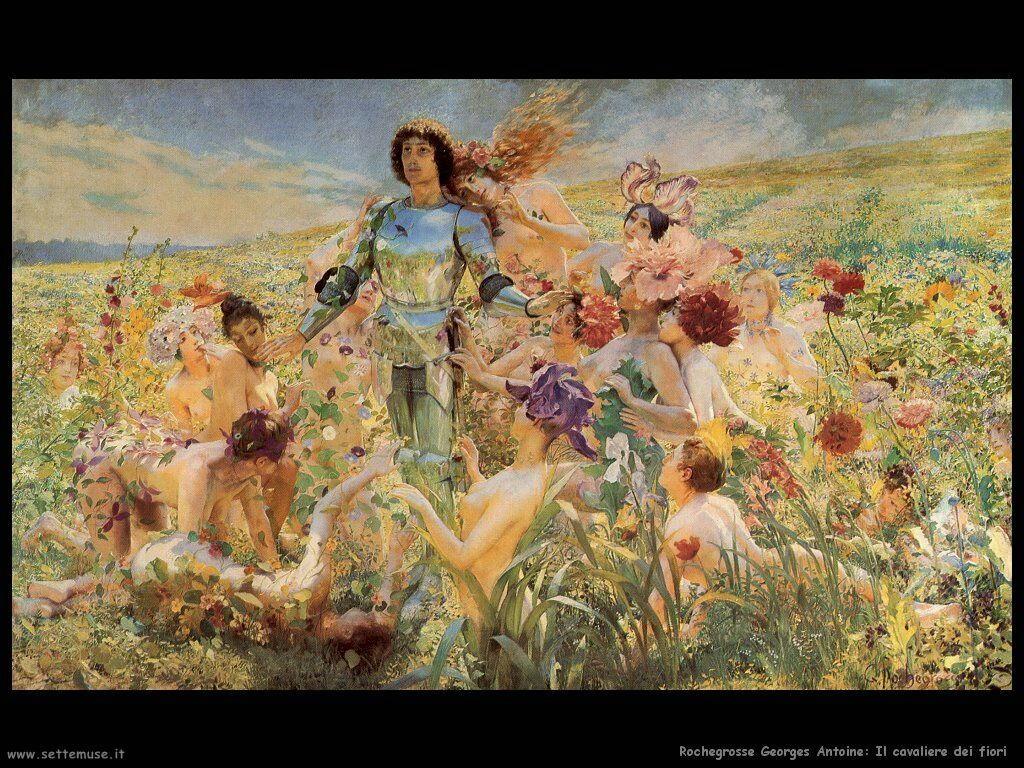 Rochegrosse Georges Antoine Il cavaliere dei fiori