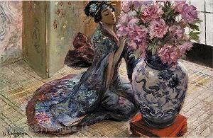 Pittura di Rochegrosse Georges-Antoine