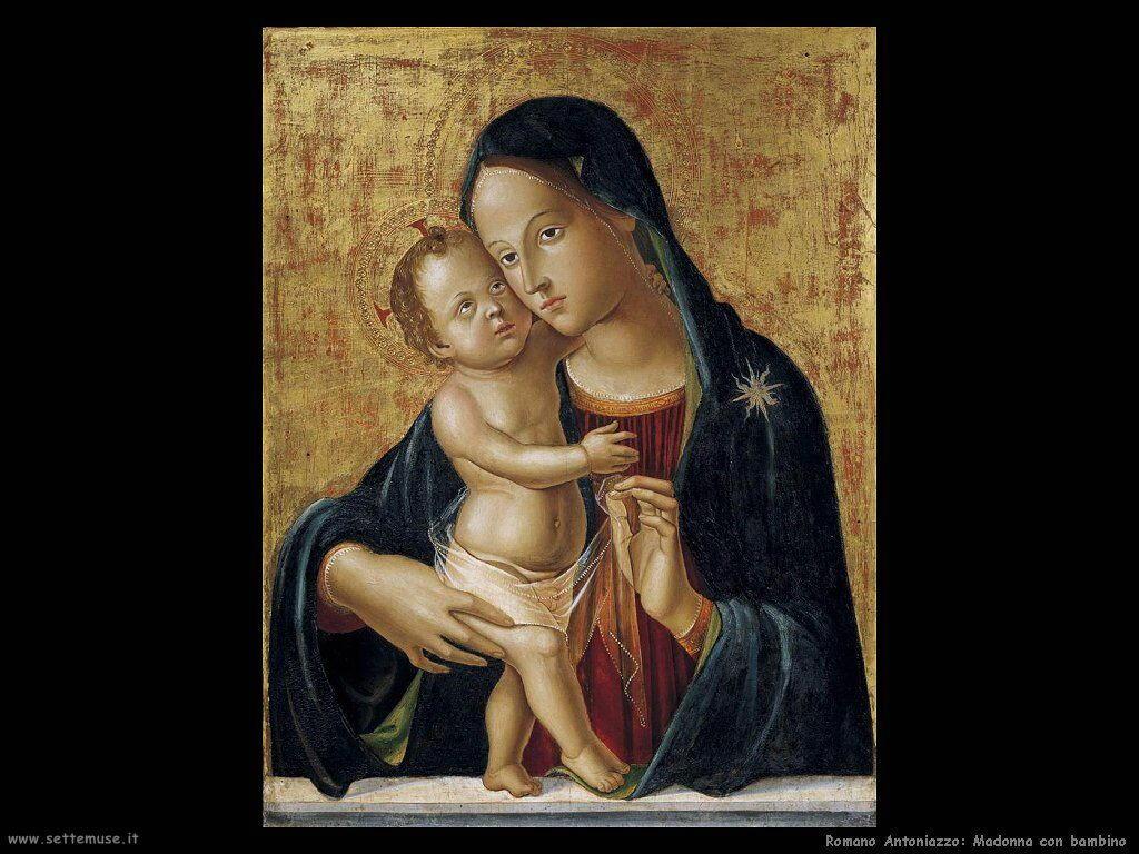 romano antoniazzo Madonna con bambino