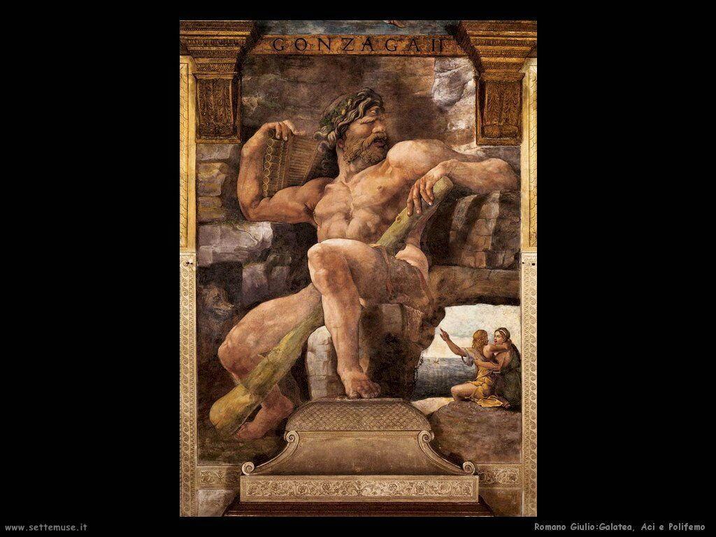 Romano Giulio Galatea, Aci e Polifemo
