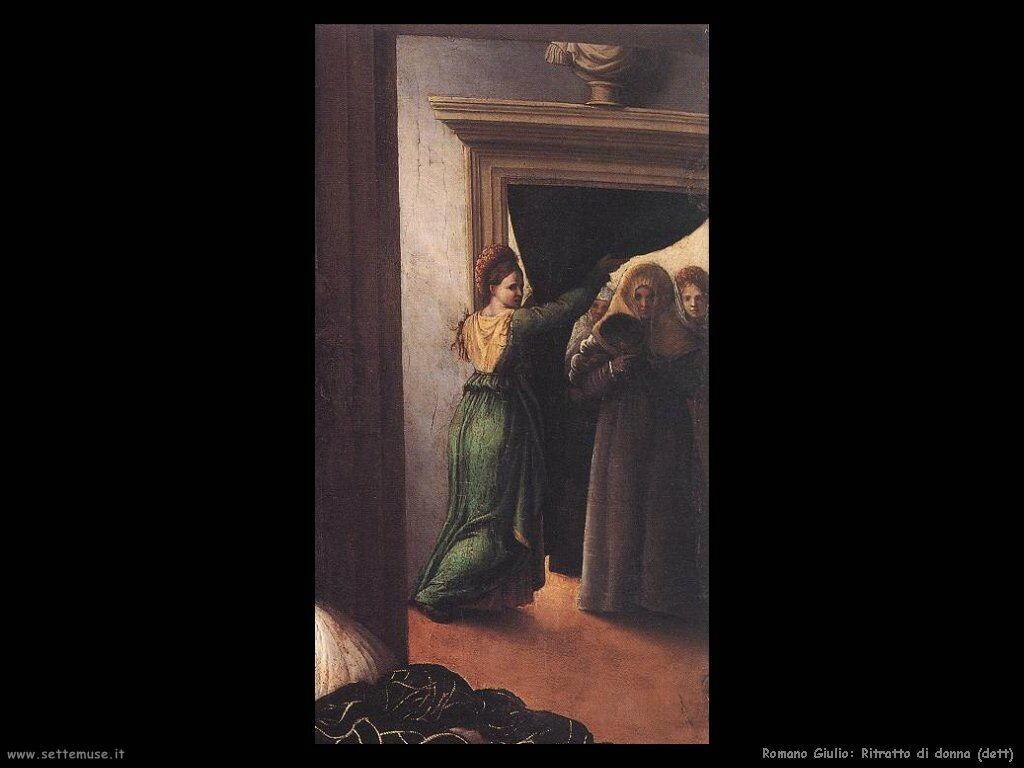 romano giulio Ritratto di donna