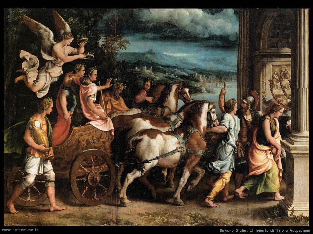 romano giulio Trionfo di Tito e Vespasiano