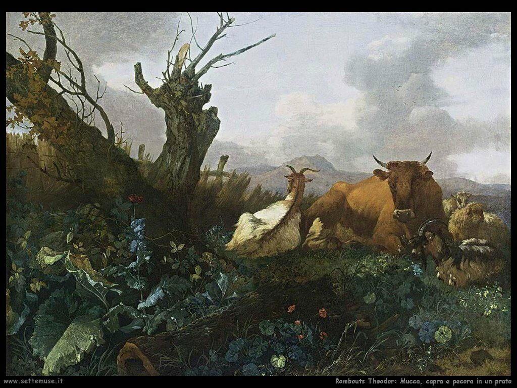 romeijnwillemMucca capra e pecora in un pascolo