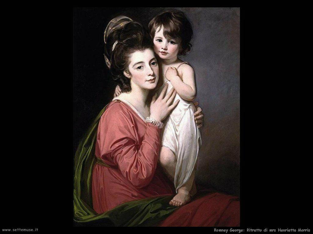 romney_george Ritratto di mrs Henrietta Morris