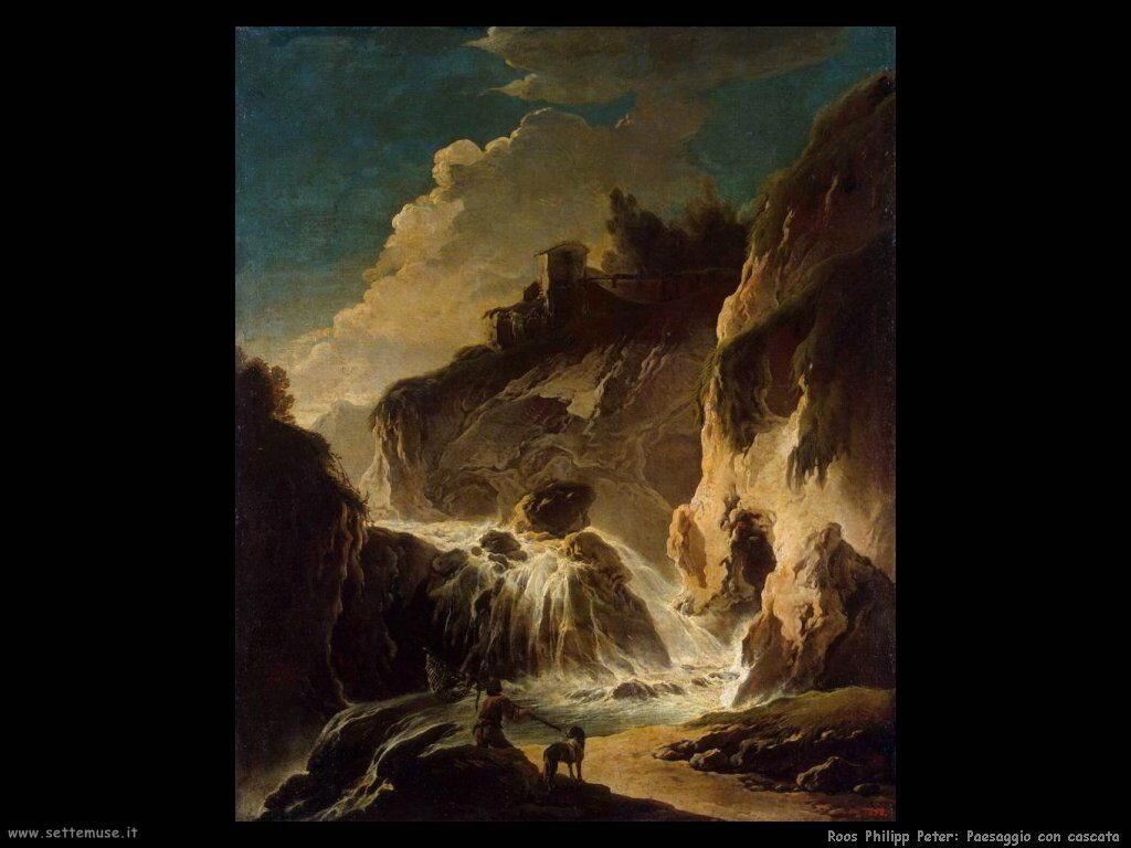 roos philipp peter Paesaggio con cascata