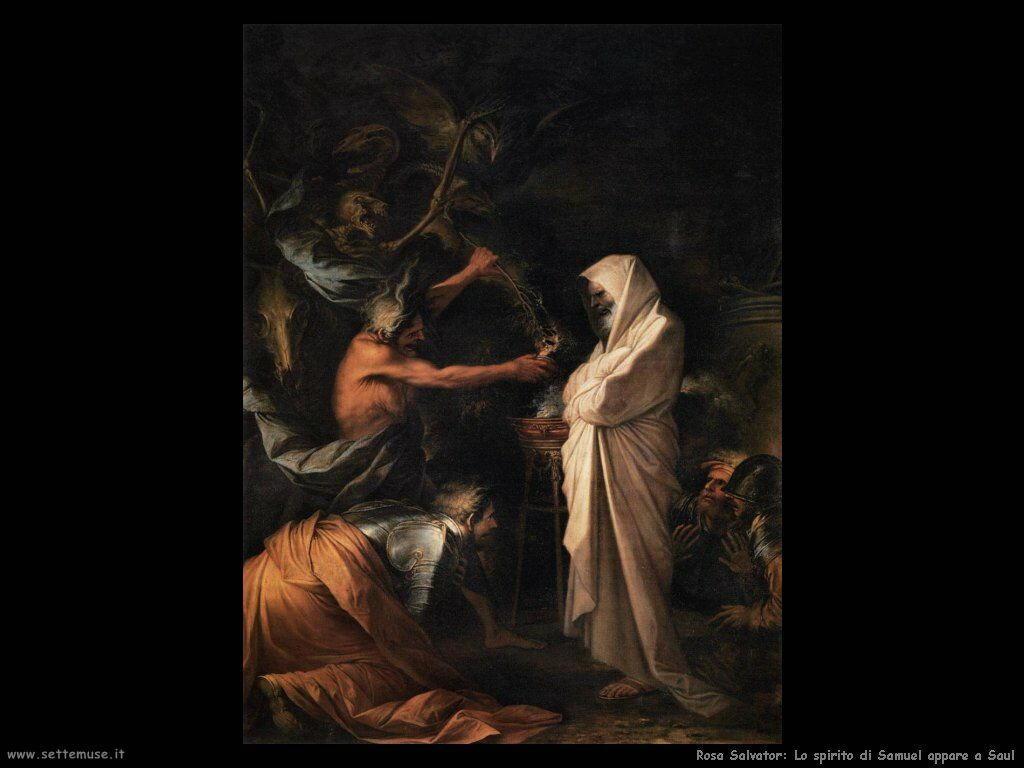 Rosa Salvator L'ombra di Samuele appare a Saul