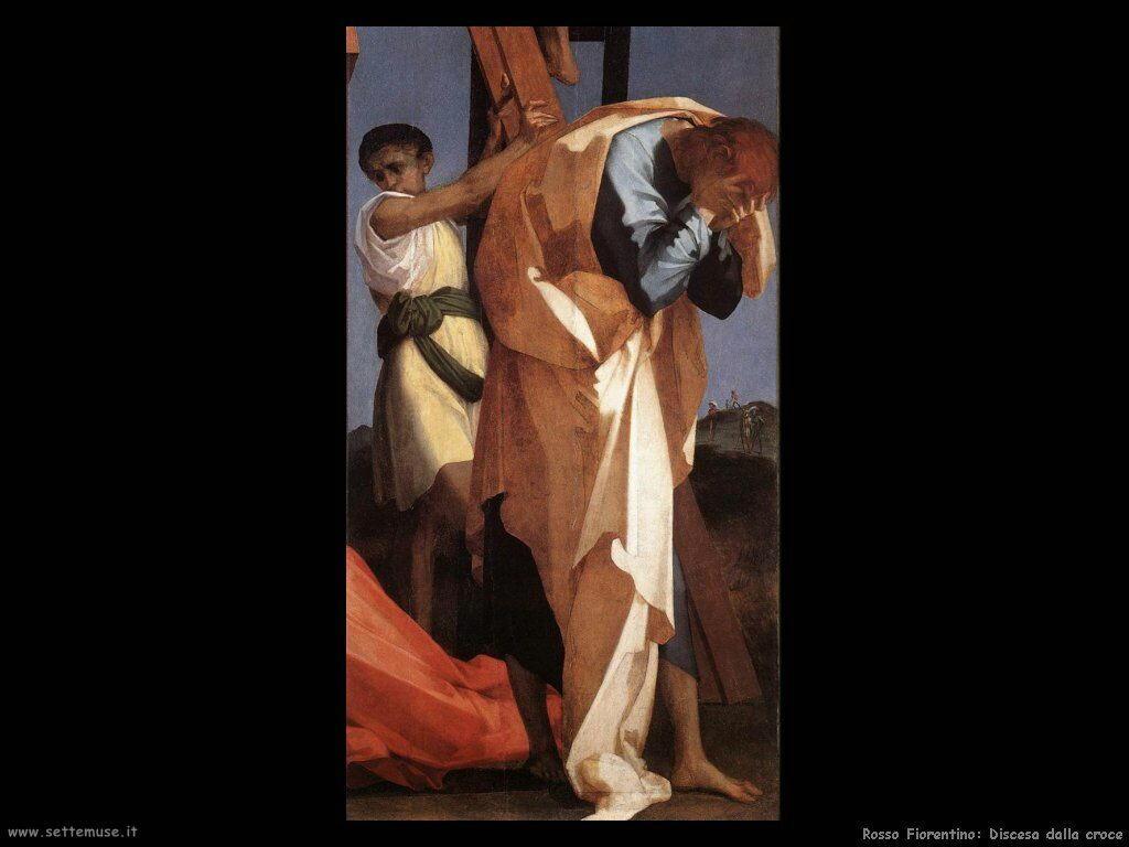 Rosso Fiorentino Deposizione dalla Croce (particolare)