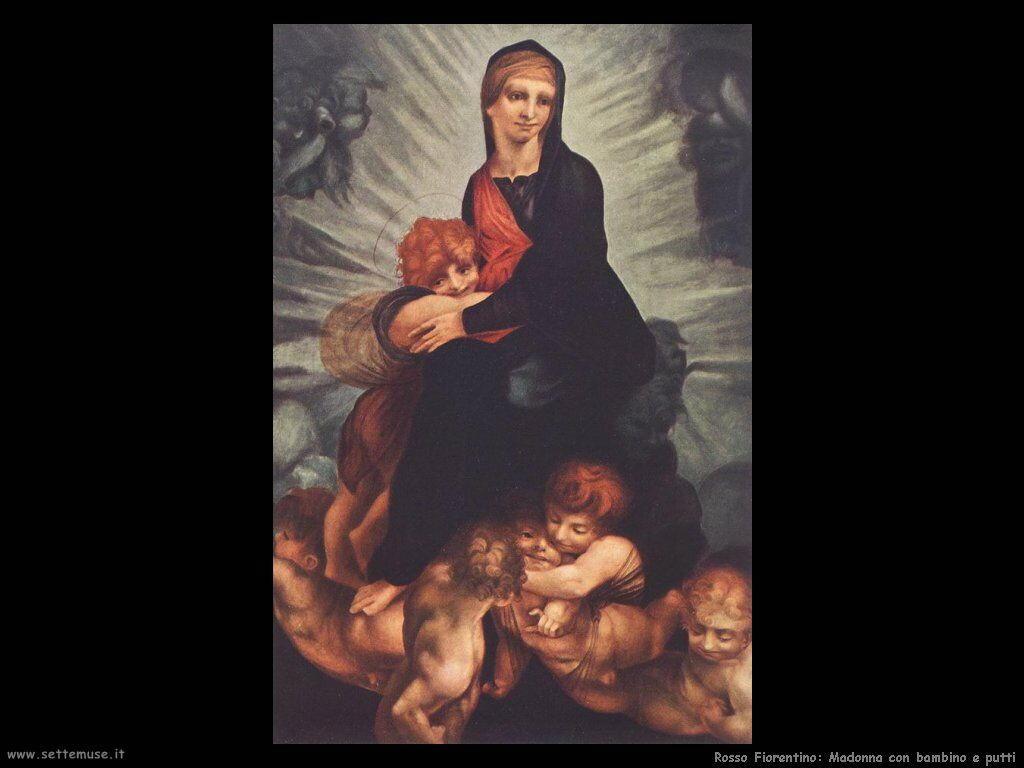 Rosso Fiorentino Madonna con Bambino e putti