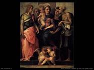 Rosso Fiorentino Madonna in trono con quattro Santi