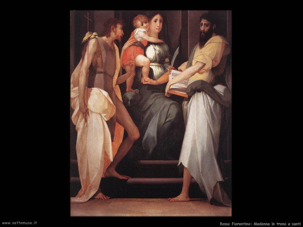 Rosso Fiorentino Madonna in trono tra due Santi