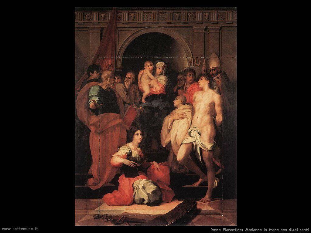 Rosso Fiorentino Madonna in trono tra dieci Santi