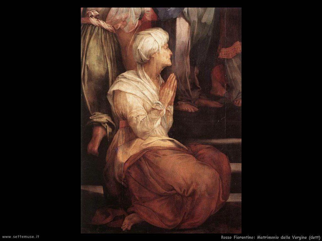 Rosso Fiorentino Matrimonio della Vergine(particolare)