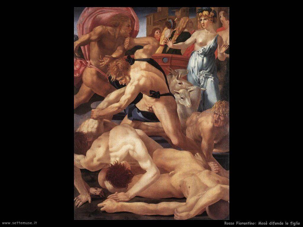 Rosso Fiorentino Mosè difende le figlie di Ietro