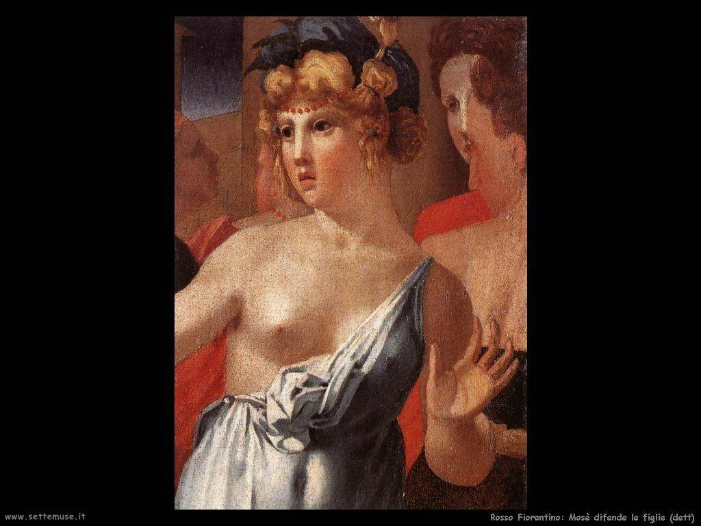Rosso Fiorentino Mosè difende le figlie di Ietro (particolare)