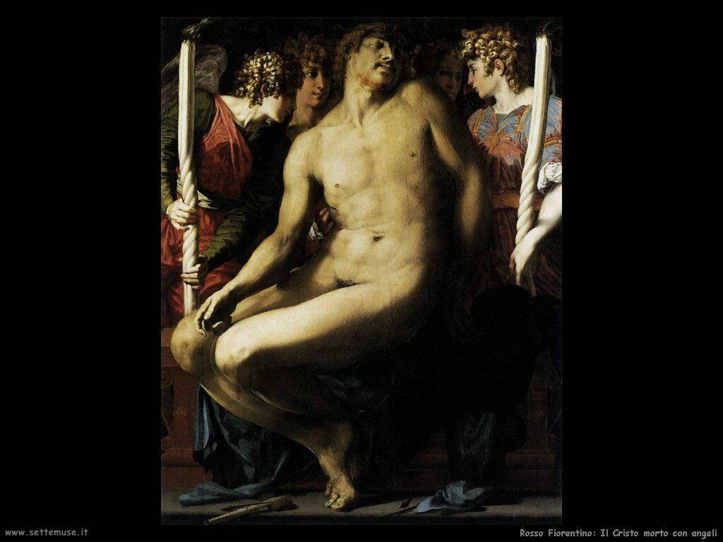 Rosso Fiorentino Cristo morto con Angeli