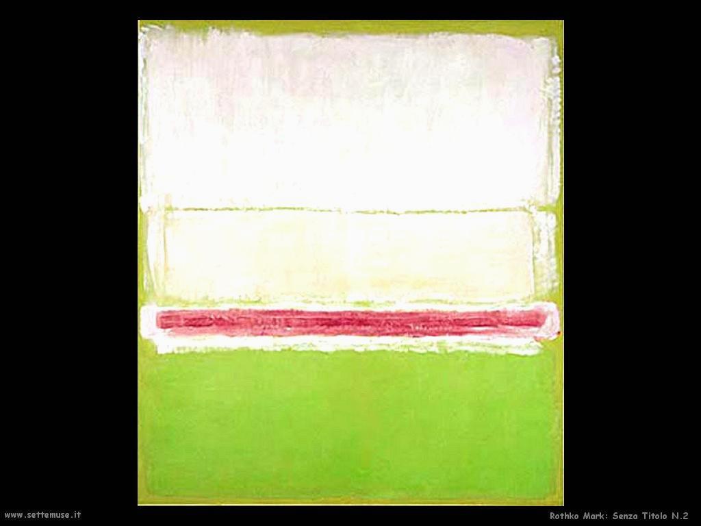 Rothko Mark Senza Titolo N.2