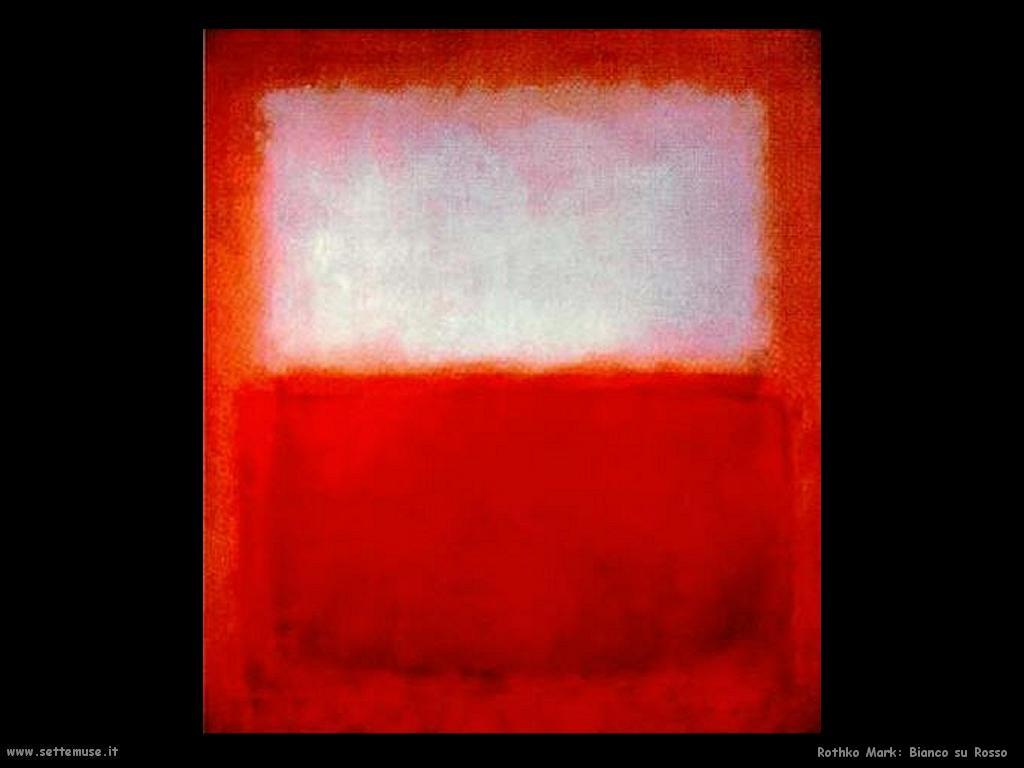 Rothko Mark Bianco su Rosso