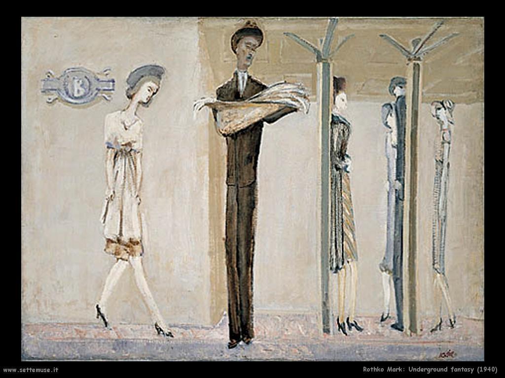 Rothko Mark Underground Fantasy (1940)
