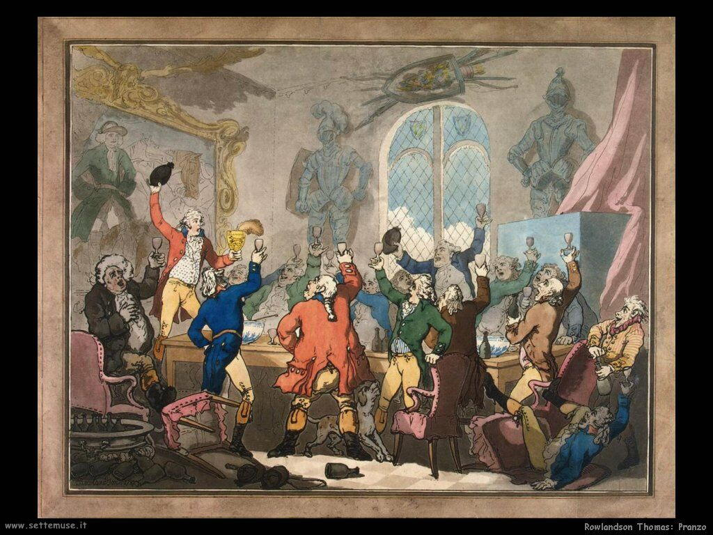 Rowlandson Thomas Dinner