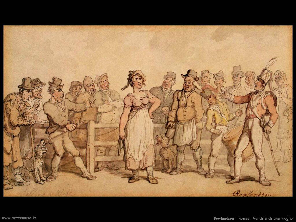 Rowlandson Thomas Selling a wife