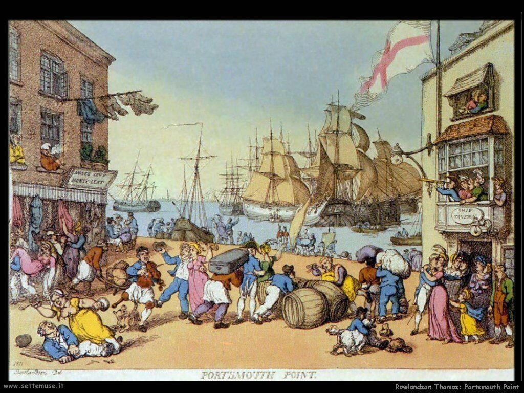 Rowlandson Thomas Portsmouth point