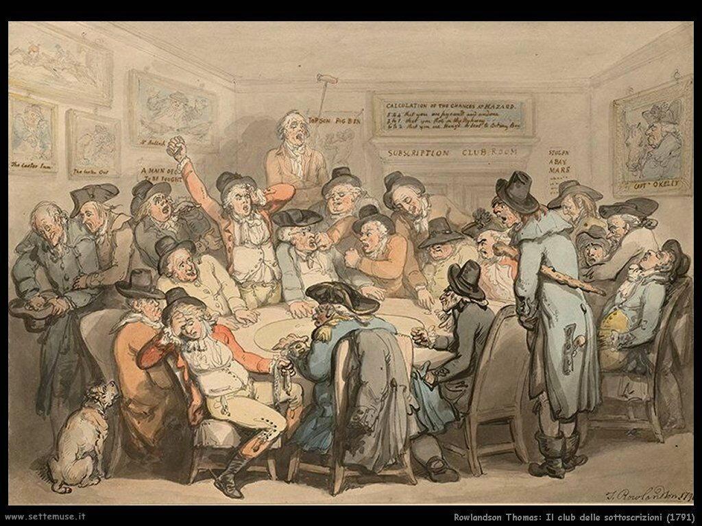 Rowlandson Thomas The subscriptions club room 1791