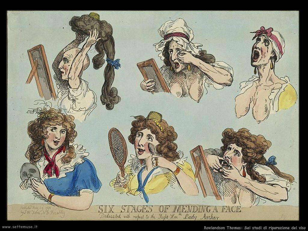 Rowlandson Thomas Six stages of mending a face