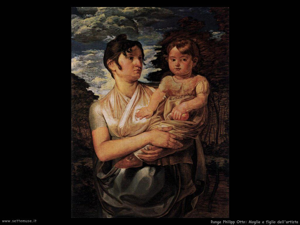 Runge Philipp Otto The artist's wife and son