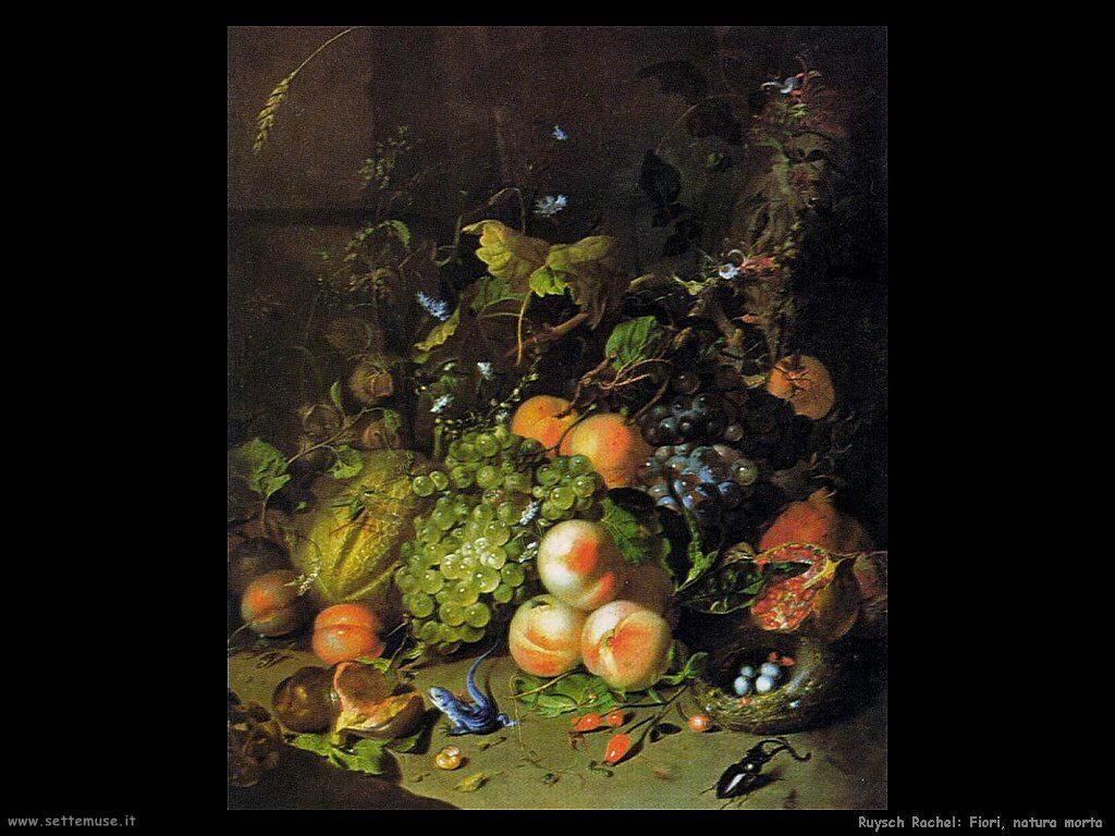 Ruysch Rachel Fiori natura morta