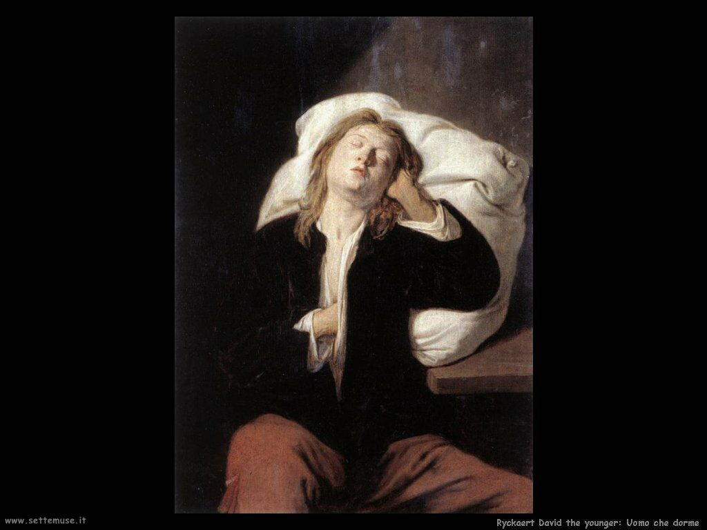 Ryckaert David the Younger Uomo dormiente