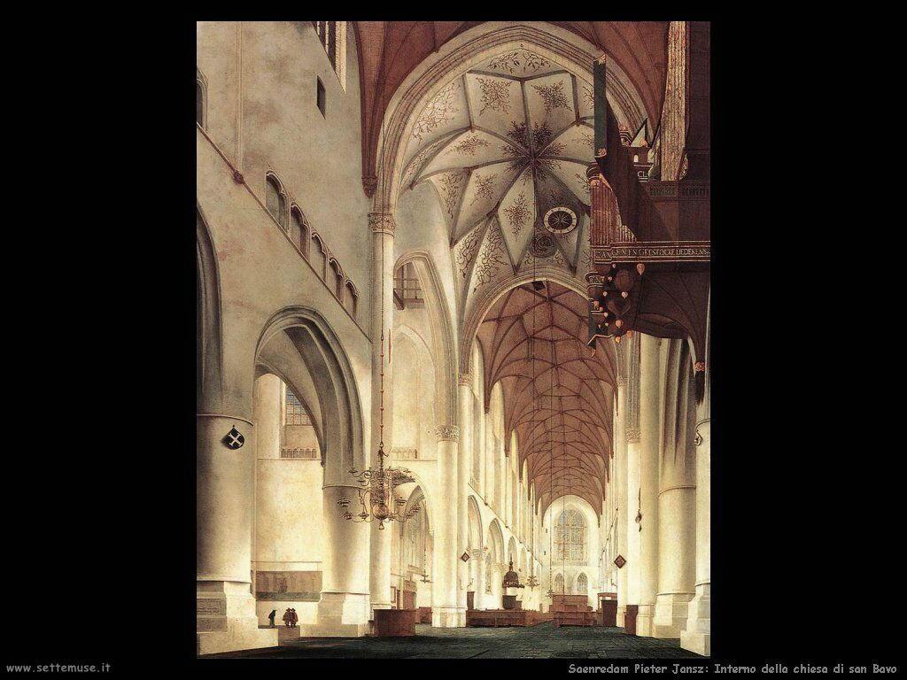 Saenredam Pieter Jansz Interno della Chiesa di S.Bavo - Haarlem