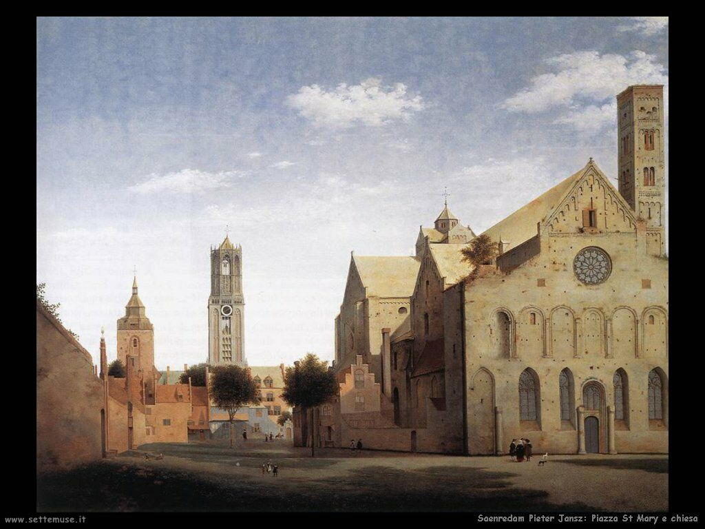 Saenredam Pieter Jansz Piazza e Chisa di Santa Maria -  Utrecht