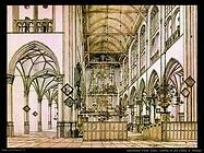 Saenredam Pieter Jansz Interno chiesa in Alkmaar