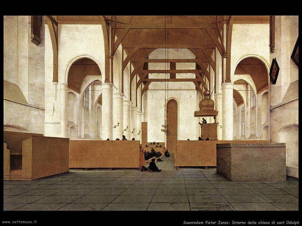 Saenredam Pieter Jansz Chiesa di sant Odulphus - Assendelft