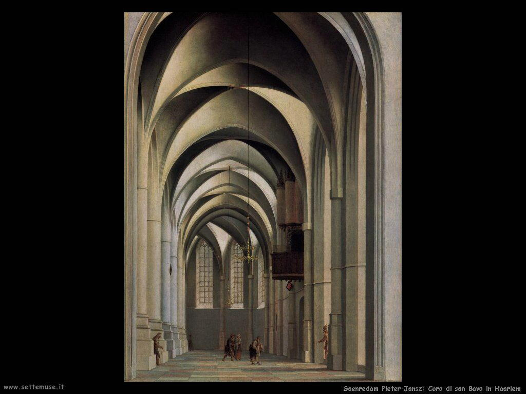 Saenredam Pieter Jansz Chiostro di San Bavo - Haarlem